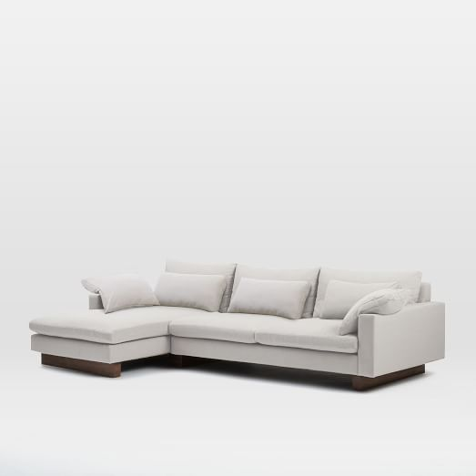 Harmony 2-Piece Chaise Sectional - Left Oyster chaise West Elm 116.5 : 2 piece chaise sectional - Sectionals, Sofas & Couches