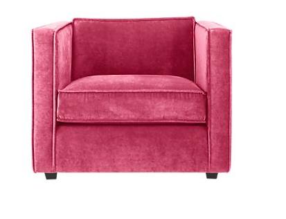 Good Club Chair, Tess Fuschia, Side Chair, Upholstery Fabric, CB2,