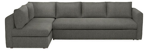 Oxford Pop Up Platform Sleeper Sofa With RIght Chaise, Orla Grey Boucle,  Sectional